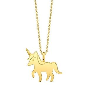🦄NEW!! FOOTNOTES GOLD UNICORN NECKLACE .925